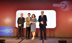 "Vietcombank received the award ""Best  bank in Vietnam 2019"""