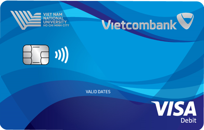 Vietcombank – VNU cobranded international debit card Visa